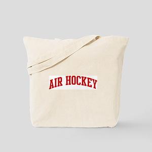 Air Hockey (red curve) Tote Bag