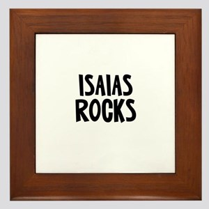 Isaias Rocks Framed Tile
