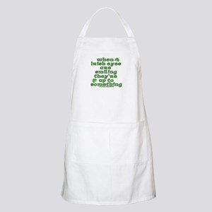 When Irish Eyes Are Smiling Joke BBQ Apron