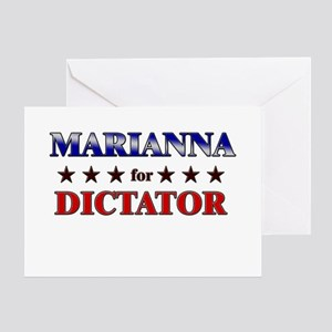 MARIANNA for dictator Greeting Card