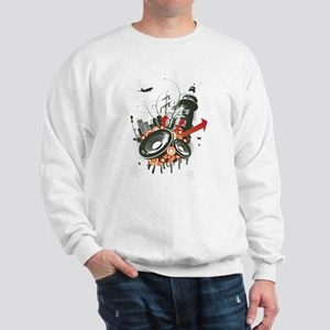 Red city speaker grunge Sweatshirt