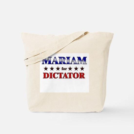 MARIAM for dictator Tote Bag