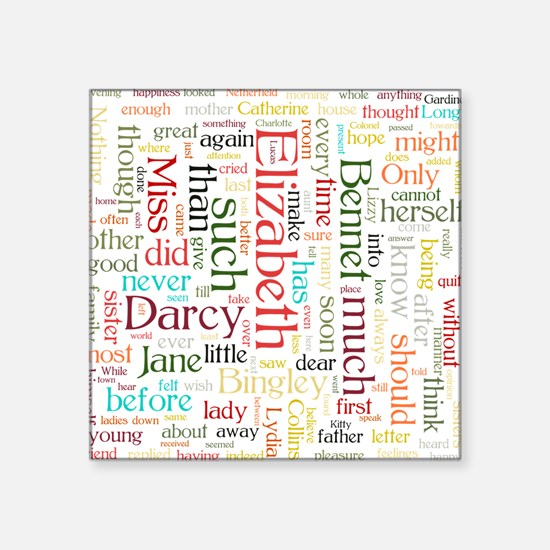 Pride & Prejudice Word Cloud Sticker