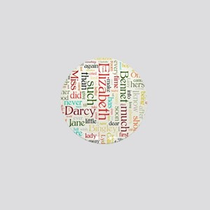 Pride & Prejudice Word Cloud Mini Button
