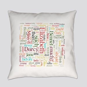 Pride & Prejudice Word Cloud Everyday Pillow