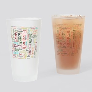Pride & Prejudice Word Cloud Drinking Glass