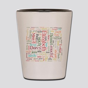 Pride & Prejudice Word Cloud Shot Glass