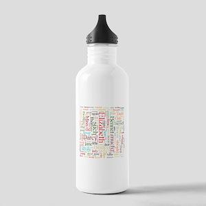 Pride & Prejudice Word Cloud Water Bottle