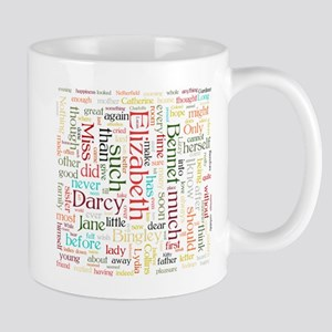 Pride & Prejudice Word Cloud Mugs