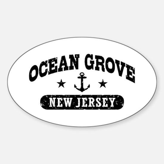 Ocean Grove New Jersey Sticker (Oval)