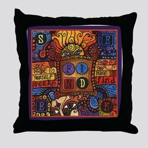 Seek & Find Sun Inspirational Art Throw Pillow
