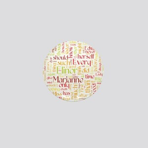 Sense & Sensibility Word Cloud Mini Button