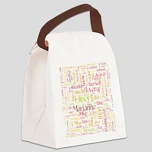 Sense & Sensibility Word Cloud Canvas Lunch Bag