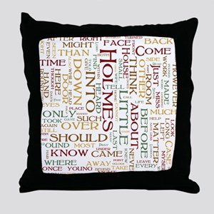 Sherlock Holmes Word Cloud Throw Pillow