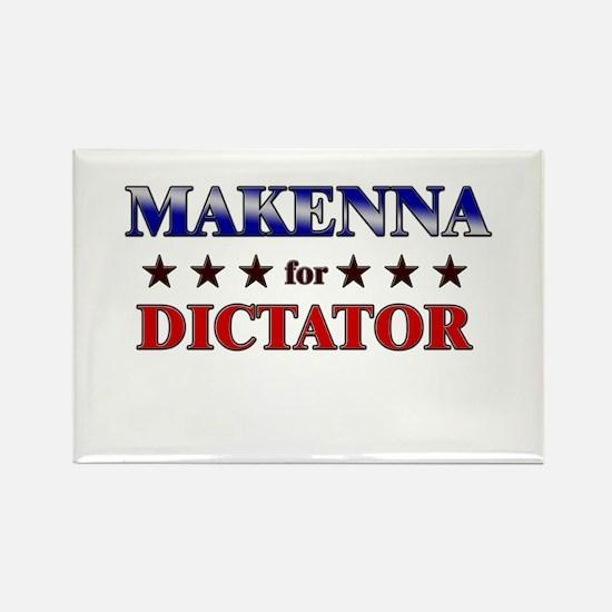 MAKENNA for dictator Rectangle Magnet