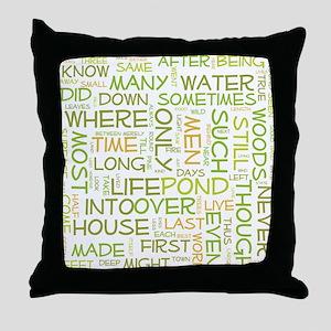Walden Word Cloud Throw Pillow