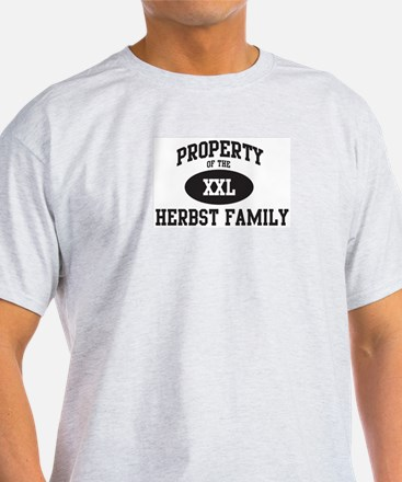 Property of Herbst Family T-Shirt