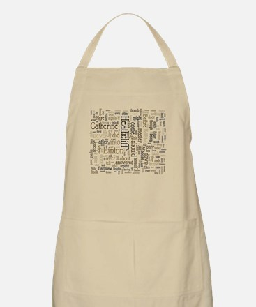Wuthering Heights Word Cloud Apron