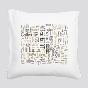 Wuthering Heights Word Cloud Square Canvas Pillow