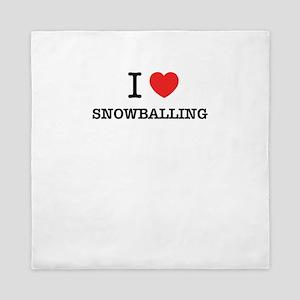 I Love SNOWBALLING Queen Duvet