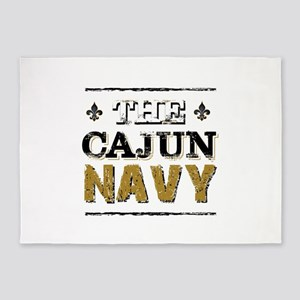 the Cajun Navy blck and gold 5'x7'Area Rug
