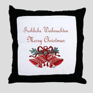 German Christmas Throw Pillow