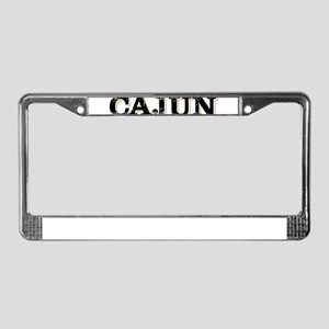the Cajun Navy blck and gold License Plate Frame
