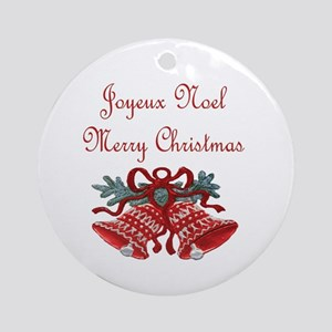 French Christmas Ornament (Round)