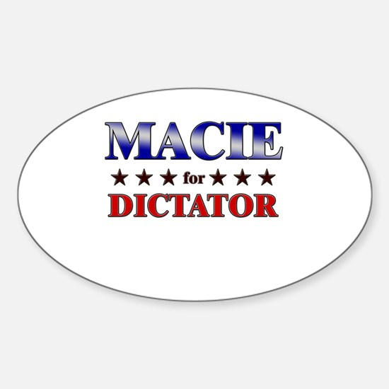 MACIE for dictator Oval Decal