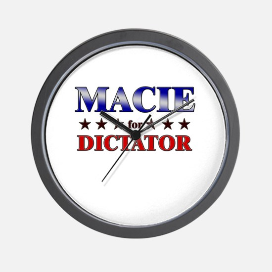 MACIE for dictator Wall Clock