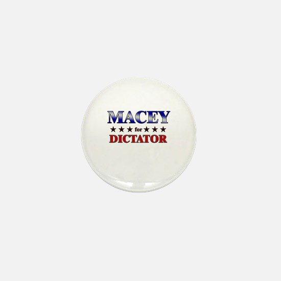 MACEY for dictator Mini Button