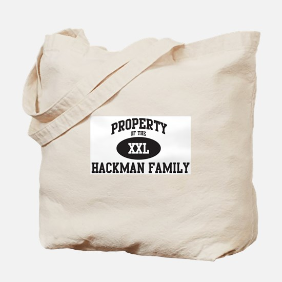Property of Hackman Family Tote Bag