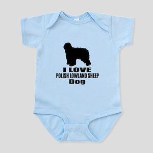 I Love Polish Lowland Sheep Do Baby Light Bodysuit