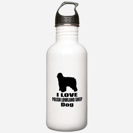 I Love Polish Lowland Water Bottle