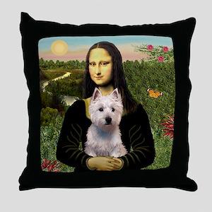 Mona's Westie (P) Throw Pillow