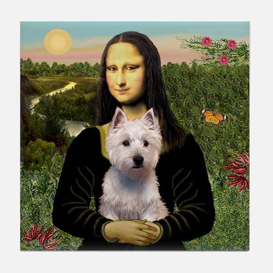 Mona's Westie (P) Tile Coaster