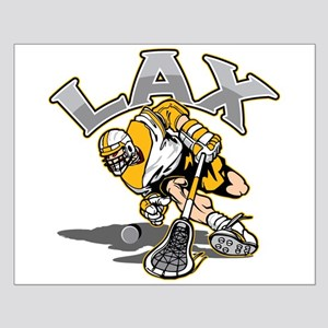Lacrosse Player Gold Uniform Small Poster