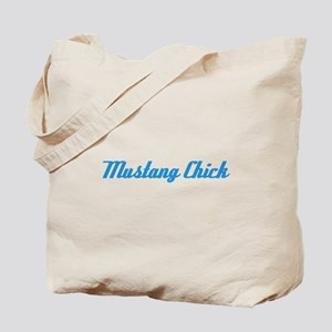 Mustang Chick in Blue Tote Bag