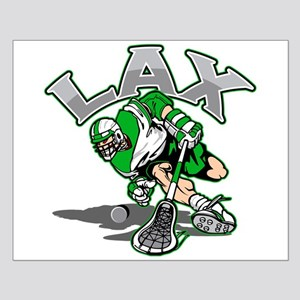 Lacrosse Player Green Uniform Small Poster