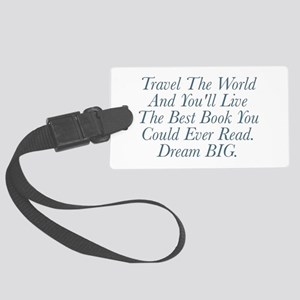 Live The Best Book Luggage Tag