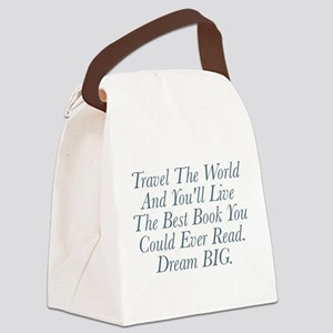 Live The Best Book Canvas Lunch Bag