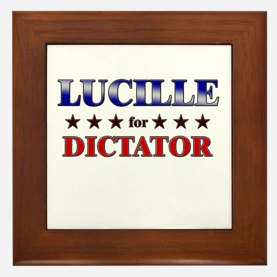 LUCILLE for dictator Framed Tile