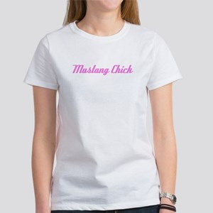 Mustang Chick in Pink Women's T-Shirt