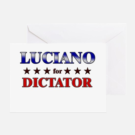 LUCIANO for dictator Greeting Card