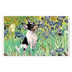 Irises / Toy Fox T Sticker (Rectangle)
