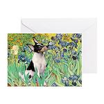 Irises / Toy Fox T Greeting Card