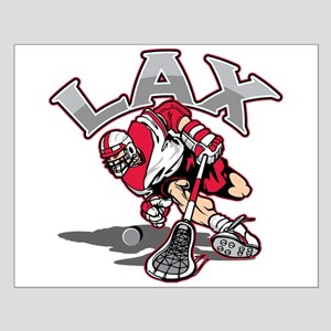 Lacrosse Player Red Uniform Small Poster