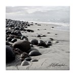Ocean (b/w) Set: Cobble Beach - Tile Coaster