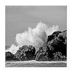 Ocean (b/w) Set: Crash - Tile Coaster