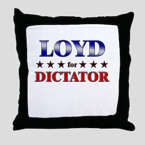 LOYD for dictator Throw Pillow